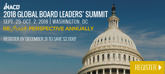 NACD 2018 Global Board Leaders' Summit Chapter Banner
